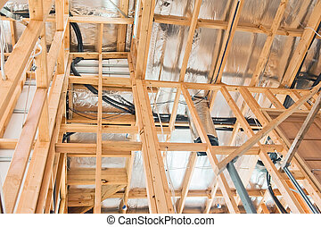 Interior of  construction  home