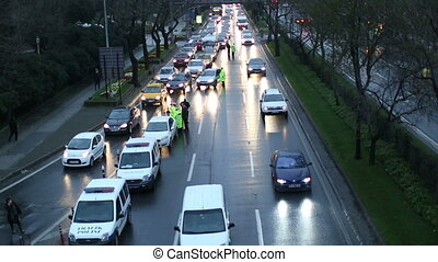 traffic control - police traffic control