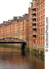 Speicherstadt in Hamburg - The famous Speicherstadt in...