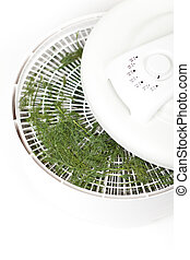 Dried dill. Food Dehydrator - Dried dill on the Food...