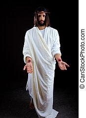 el, resucitado, Jesús, Cristo, Alcanzar, afuera