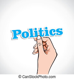 Politics Word In Hand