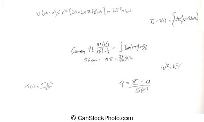 Formula Writings - A white background fills up with...