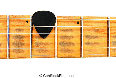 Electric guitar neck with black mediator - Shabby electric...