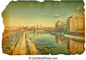 Under old times. Moscow River