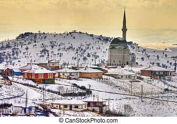 Turkish village near Ankara at winter time