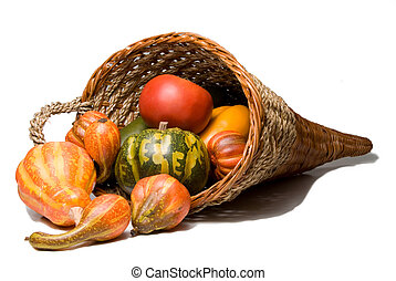 Cornucopia - The traditional Thanksgiving harvest...