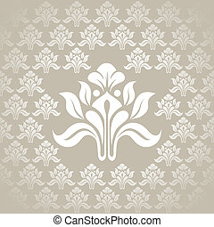 Beautiful seamless silver wallpaper stock vector