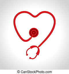 Stethoscope make a heart shape