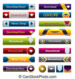 Download buttons for the web - Download buttons for websites...
