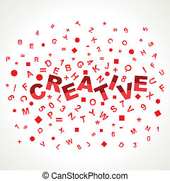 Creative word with in alphabets stock vector