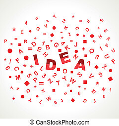 Idea word with in alphabets