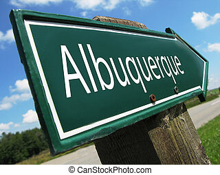Albuquerque road sign