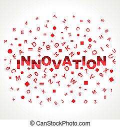 Innovation word with in alphabets