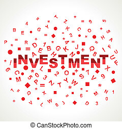 Investment word with in alphabets