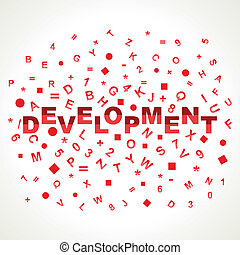 Developement word with in alphabets