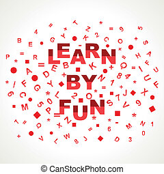 Learn By Fun word with in alphabets