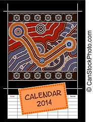 A calender based on aboriginal style of dot painting...