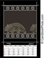 A calender based on aboriginal styl