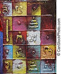 Original, acrílico, abstratos, quadro, misturado,...