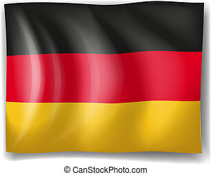 A German flag - Illustration of a German flag on a white...