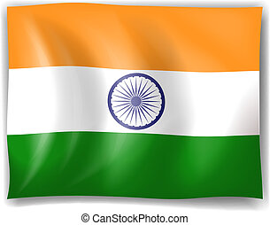 Flag of India - Illustration of the flag of India on a white...