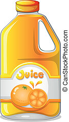 Orange juice in a gallon - Illustration of an orange juice...