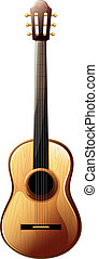 A classical guitar - Illustration of a classical guitar on a...