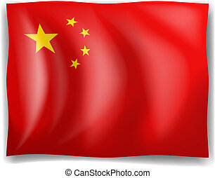 Flag of China - Illustration of the flag of China on a white...
