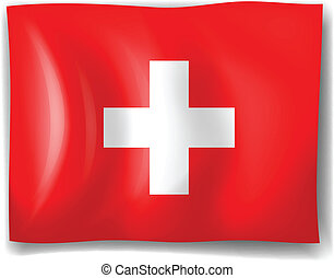 The flag of Switzerland - Illustration of the flag of...