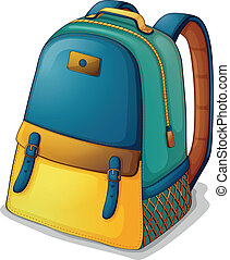 A colorful back pack - Illustration of a colorful back pack...