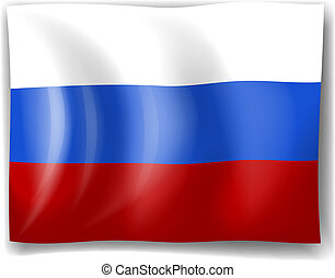Flag of Russia - Illustration of the flag of Russia on a...