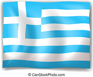 Flag of Greece - Illustration of the flag of Greece on a...