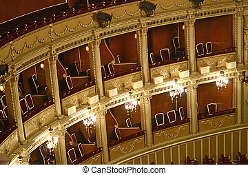 Opera Balcony - Inside An Opera : Balconies For The Audience