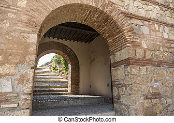 La Alcazaba - It is the entrance to the Alcazaba monument...
