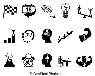 Productive at work icons - isolated Productive at work icons...
