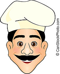 Vector illustration of cook