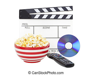 Movie and Popcorn - Movie night theme A bowl of fresh...