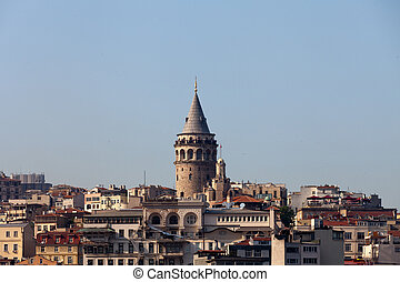 Galata tower in Beyoglu district of Istanbul, Turkey