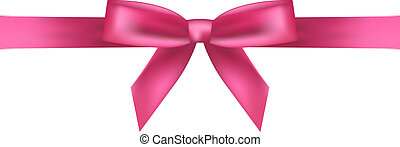 Vector illustration of pink bow