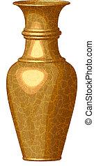 golden shiny vase