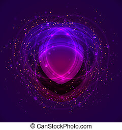 charmed space - abstract mystic symbol wiht light