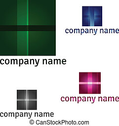 Abstract logo - set of different colors