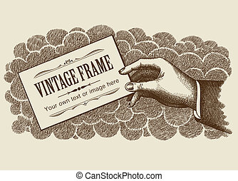 Vintage Frame Background Vector - Vintage Frame Background...
