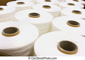 Industrial fabric huge spun yarns with white fabric