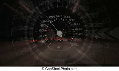 Speed - An energetic speedometer design composited over time...
