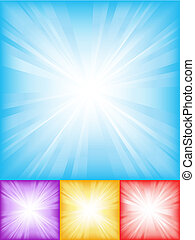 Abstract backgrounds - Colourful starburst backgrounds
