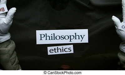 Philosophy, terms, words - Philosophy, concept, hands and...