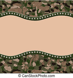 Camouflage Torn Background for your message or invitation...