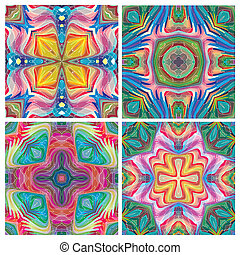 American tribal art - Pattern inspired by ancient motifs,...